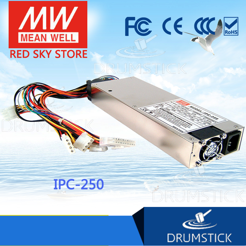 цена на Hot sale MEAN WELL IPC-250 meanwell IPC-250 250W Industrial 1U ATX 12V/P4 PC Power Supply