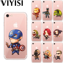 VIYISI Cartoon Marvel For Apple iPhone X IPhone 7 case 8 6 6S Plus Cover 5 5S SE Phone Case Soft TPU Silicone Back Coque Shell