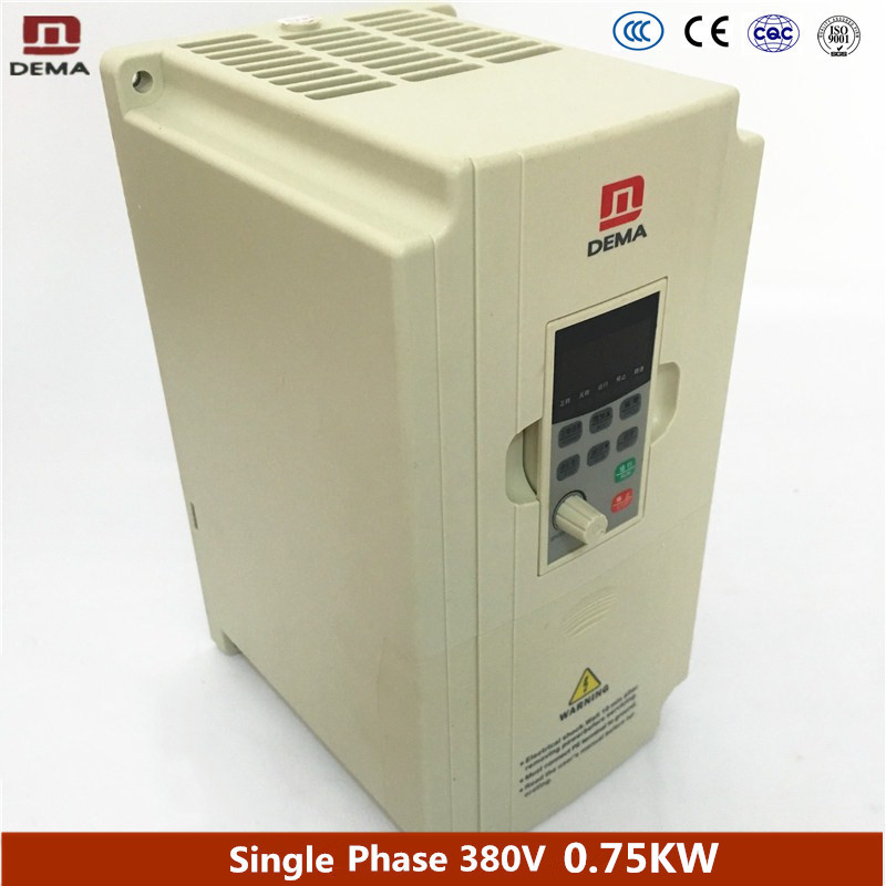 DEMA D5M Series 0.75KW Small Power 1 Phase 220V Input Frequency Converter Speed Drive Water Pump Assembly Line Motor Inverter mutoh vj 1604w rj 900c water based pump capping assembly solvent printers