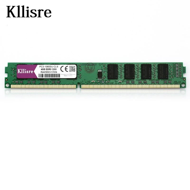 Kllisre Ram DDR3 4GB 1333 MHz Desktop Memory 240pin 1.5V sell 2GB8GB New DIMM