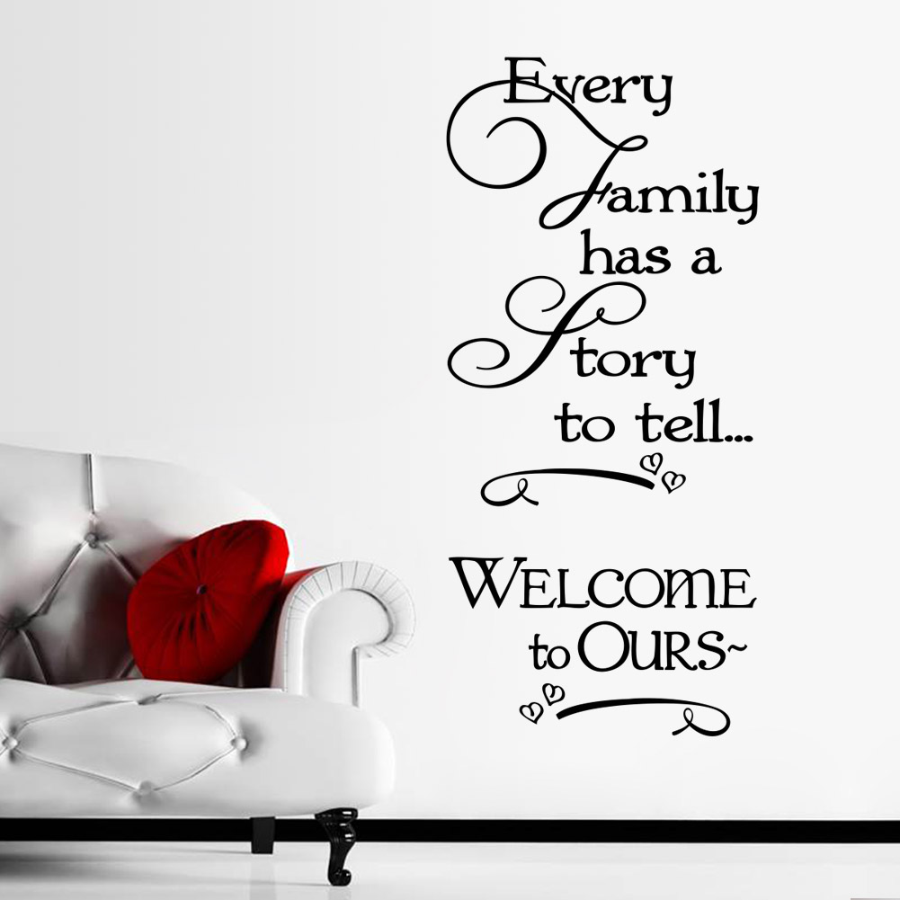 Motivational Inspirational Quotes: Every Family Has A Story To Tell Inspirational Quotes Wall