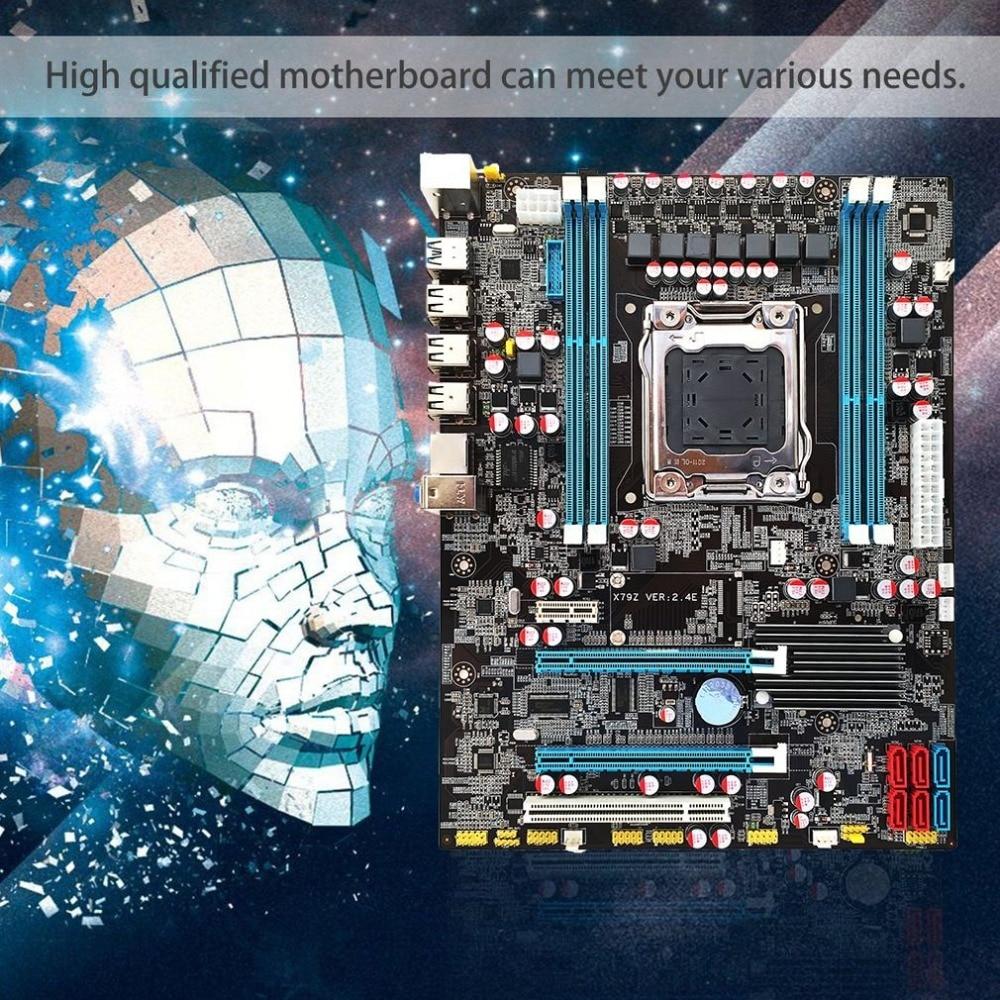 Intel X79 placa base CPU Ram LGA2011 REG ECC C2 Memory32G DDR3 4 canales soporte E5-2670 I7 seis y ocho Core CPU