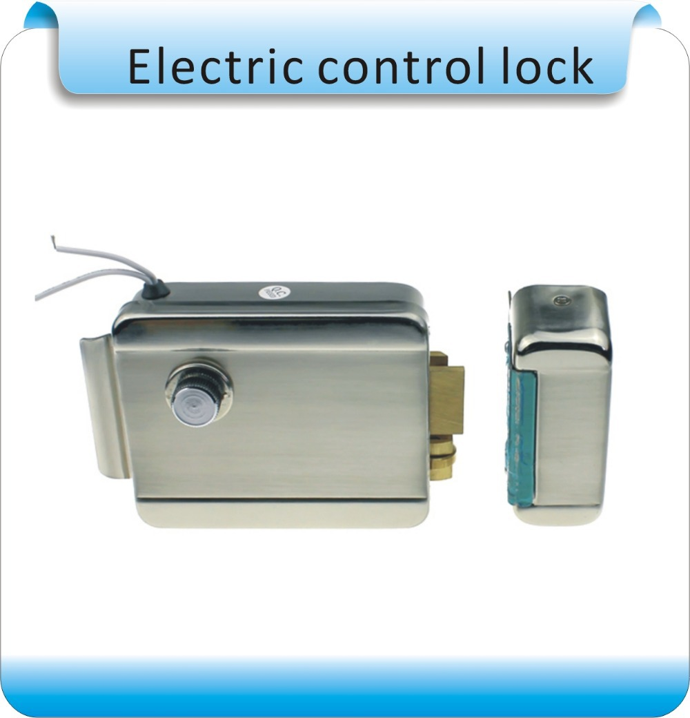 SY1073 Waterproof double tongue Nickel plating, pulley drive Electric control lock /Security door dedicated electronic lock aurora double drive 1500
