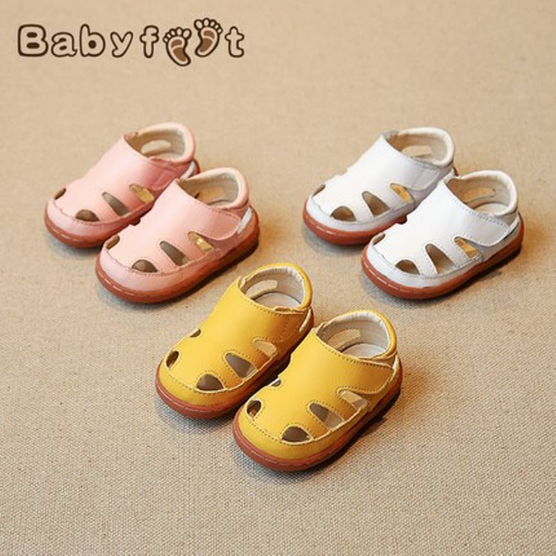 Babyfeet Genuine leather soft Solid Baby Toddler Shoes Boy sandals children's shoes female baby shoes summer 0-2 years Girl Boy babyfeet summer cool toddler shoes 0 2 year old newborn baby girl