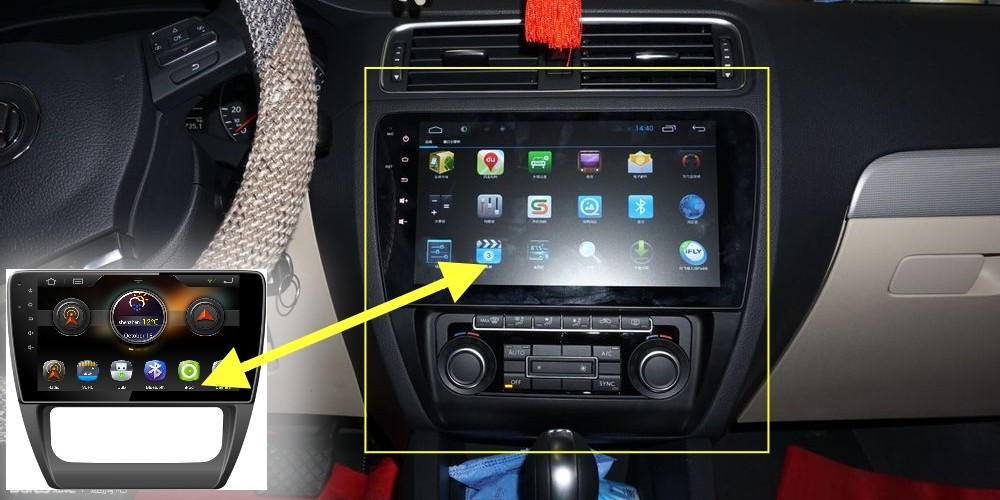 Car Multimedia Video GPS NAVI Controller System For Volkswagen VW Vento Replace