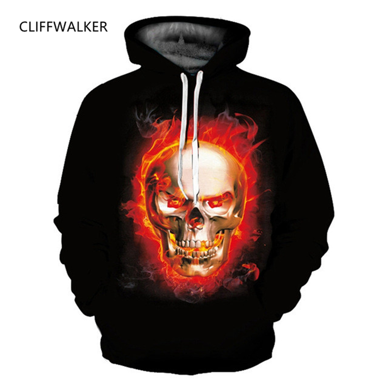 Dropshipping Fashion For Men Women Burning Skull Printed 3D Hoodie Sweatshirts Pullovers Autumn Tracksuit Winter Loose Clothes