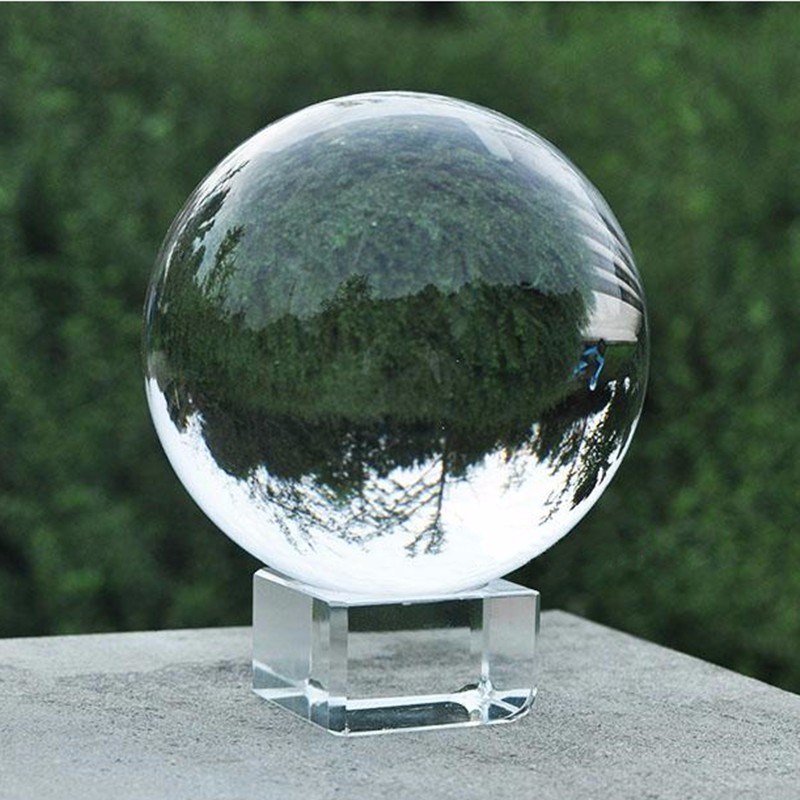 jqj clear crystal sphere ball paperweight craft feng shui home