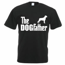 Men's Rottweiler Dog T-Shirt - THE DOGFATHER - Gift Idea For Dad Father's Day New T Shirts Funny Tops Tee New Unisex Funny Tops цена и фото