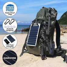 LEORY Hot Sale 10W Waterproof Sun Power Solar Cells Charger 6V USB Output Devices Portable Solar Panels for Smartphones(China)