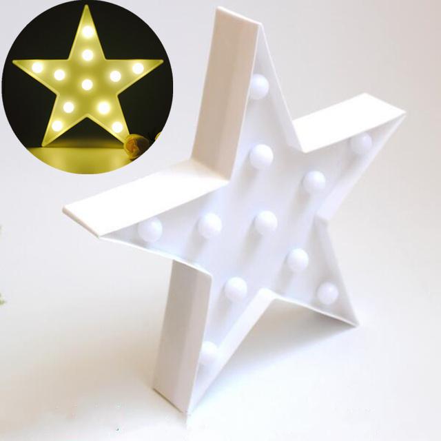 Hot new projeto da estrela Decorativa do Natal luz Da Noite lâmpada de parede a Pilhas Luzes De Fadas fontes do partido decoração de casa