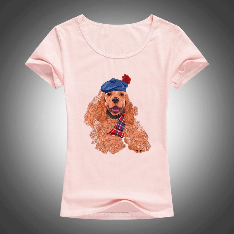 2017 haustiere schönen hund gedruckt t-shirt frauen kühlen sommer - Damenbekleidung - Foto 3