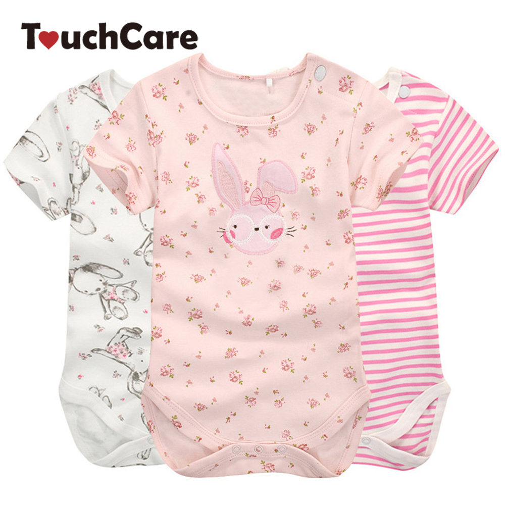 Moms Care Cartoon Cotton Baby Rompers Summer Short Sleeve Baby Wear Infant Jumpsuit Boys Girls Clothes Roupas De Bebe Infantil 2 pcs lot newborn baby girls clothing set cute pink cotton baby rompers boys jumpsuit roupas de infantil overalls coveralls