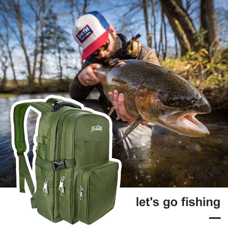 2019 Latest Design Erchang Fishing Backpack Bag Waterproof Outdoor Sports Fishing Bag General Size Mutiple Pocket Hiking Hunting Fishing Bags Men Beautiful And Charming Security & Protection