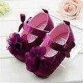Toddler Kids bebé Bowknot de la flor zapatos inferiores suaves zapatos de bebé 0 - 12 M