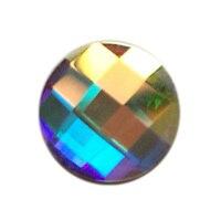 288 unids 6mm, 8mm Cristal AB Redondo 3D Nail Art Puntas de diamantes de Imitación Para Uñas Herramientas Zapatos de la Ropa decoración de DIY