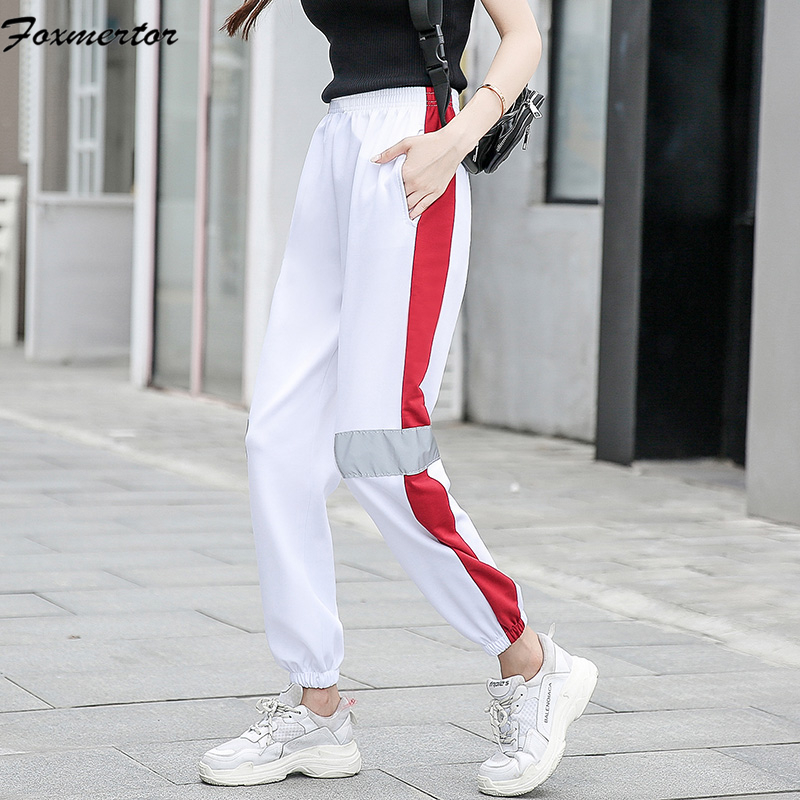 Women and Men Pants 2019 Summer Fashion Black Pencil Pants Streetwear Cargo Pants Loose Jogger Women Bottom Men Casual trousers