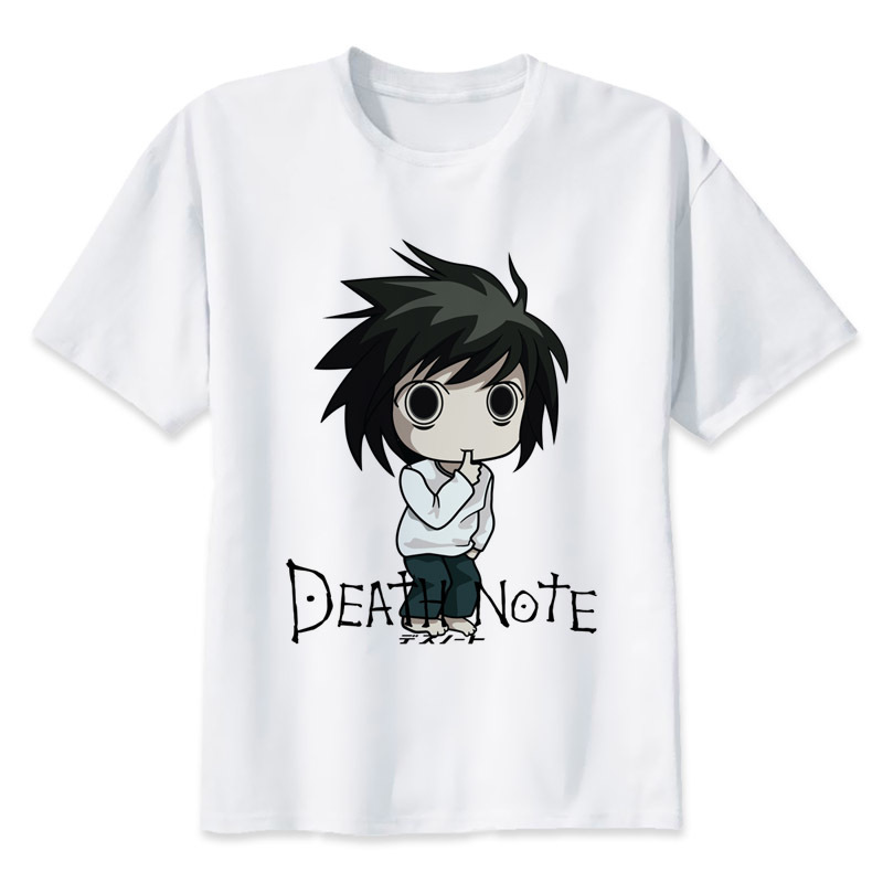 Death Note t shirt men hip hop fashion t-shirt male tshirt white print tees MR1313