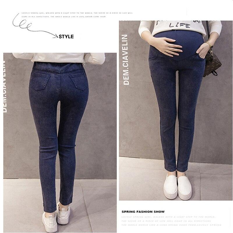 Одежда для мам; эластичные мягкие джинсы для беременных из хлопка обтягивающие, для беременных, брюки для беременных Для женщин одежда на весну и лето