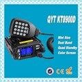 DHL Freeshipping + QYT KT-8900D Dual Band 136-174 МГц & 400-480 МГц Quad-25 Вт 200 Каналов Цветной Экран мини мобильный Fm-радио