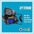DHL Freeshipping + QYT KT-8900D Dual Band 136-174 MHz y 400-480 MHz de Cuatro Núcleos de espera 25 W 200 Canales Pantalla Colorida mini móvil de Radio FM