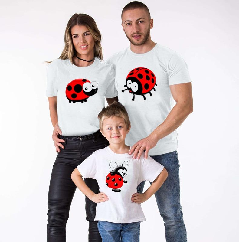 Ladybug Parent-child T-shirt Family Matching Clothes Mother and Daughter Clothes Ladybug BirthdayDress Ladybug Matching Outfits