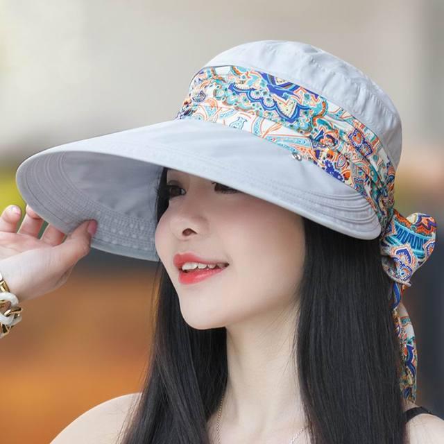 Новый бренд женская sunbonnet вс hat лето открытый складной солнцезащитный крем анти-уф большой пляж крышка шляпа летом мода открытый sunhat
