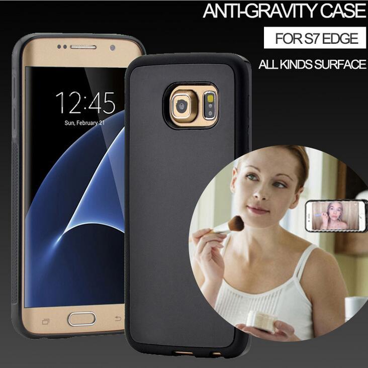 för Samsung S8 Antigravity Phone Case Attraktiv Magnet Adorption - Reservdelar och tillbehör för mobiltelefoner