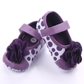 2016 New Arrival Beautiful Dot&Flower Soft Sole Baby Girl Shoes 0-18M