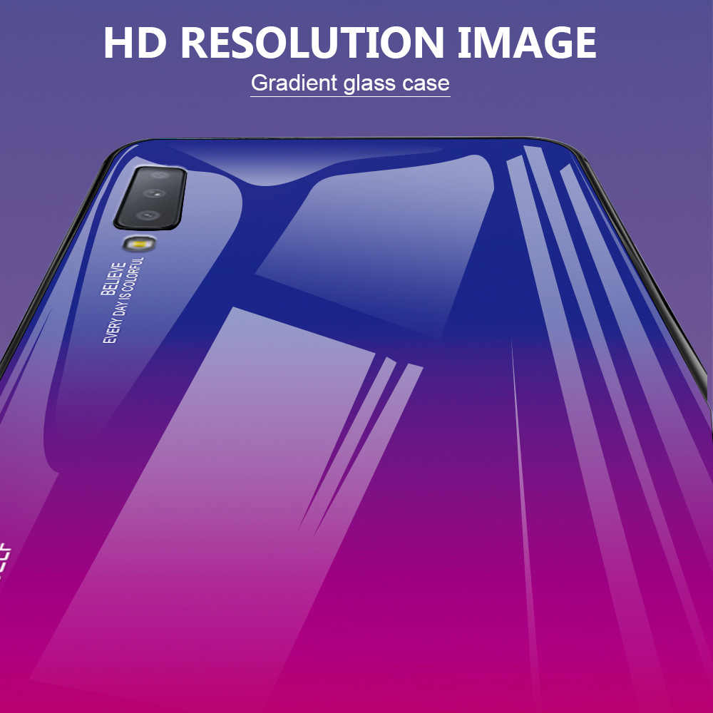 Sang trọng Kính Cường Lực Điện Thoại Ốp Lưng Dành Cho Samsung Galaxy Samsung Galaxy A7 2018 A10 A20E A30 A40 A50 A60 A70 M10 M20 M30 a5 A7 2017 A6 A8 Plus
