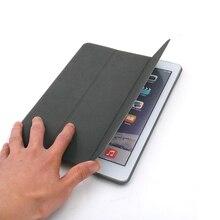 Folding Folio Veados Sensação Da Pele Smart Cover Para iPad Air 2, caso Top Grade Capa de Couro Falso 1:1 Projeto À Prova de Choque Gota Resistência