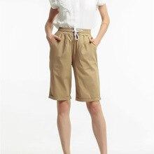 Summer knee length pants drawstring belt new stylish female large size short for women FC2201
