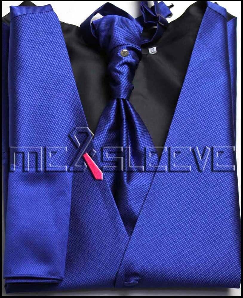 Wholesale Men s tuxedo waistcoat 4pcs free shipping new arrival vest ascot tie cufflinks handkerchief