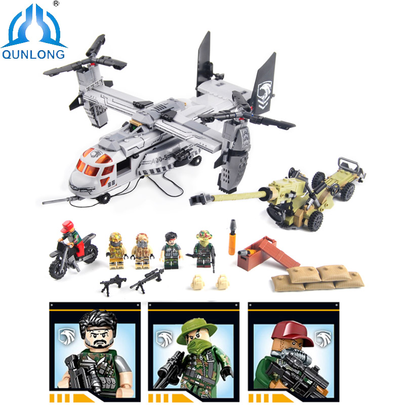 Qunlong Toys Military Wars Air Force Helicopter Building Blocks Compatible Legoe Star Wars Figures Weapons Enlighten Toy Boy Kid футболка wearcraft premium slim fit printio democracy by design ministry