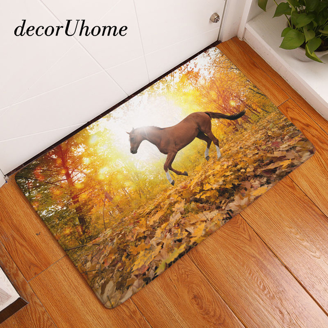 Kitchen Carpets Stonewall Com Decoruhome Anti Slip Floor Mat Waterproof Animals Horse Bedroom Rugs Decorative Stair Mats