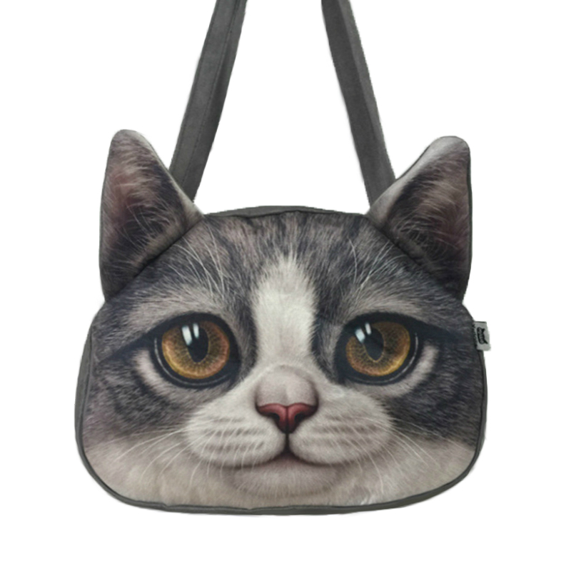 Cat 3d Crazy Sale! 2017 New Designed Spring Women Shoulder Bag Cat Shape Women Handbag Fashion Retro Women Bag Sling cat bag