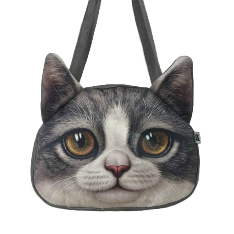 Cat 3d Crazy Sale! 2017 New Designed Spring Women Shoulder Bag Cat Shape Women Handbag Fashion Retro Women Bag Sling cat bag