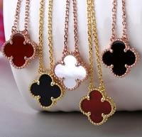 Лидер продаж логотип бренда внешней торговли очарование цветы клевера Цепочки и ожерелья цвета розового золота основа Цепочки и ожерелья д...