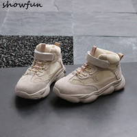 Infant Newborn Baby Girls Genuine Suede Leather Mesh Autumn Lace Up First Walkers Sneakers Shoes Toddler Classic Casual Shoes