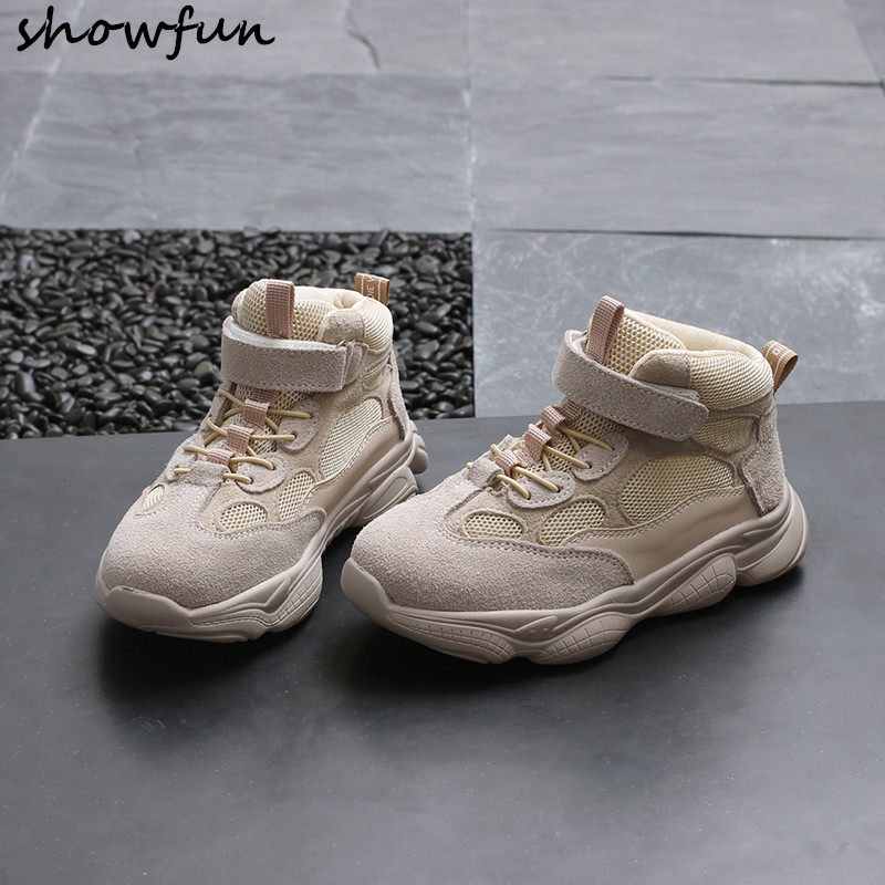 Nouveau-né bébé filles véritable daim cuir maille automne chaussures à lacets premiers marcheurs chaussures de sport enfant en bas âge chaussures décontractées classiques
