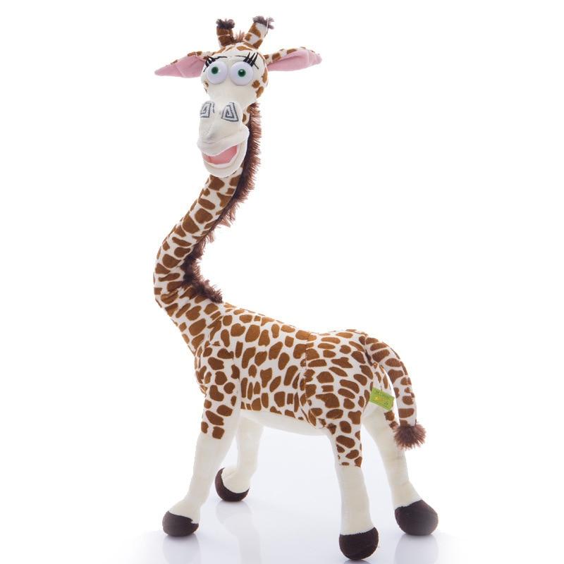 Cute 35CM Long Neck Giraffe Stuffed Plush Toy Madagascar 3 Soft PP Cotton Deer Educational Doll for Kids Birthday Gifts madagascar 2 penguins mort the lemur 55cm plush doll pp cotton handmade