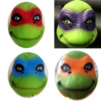 4 Tipo Teenage Mutant Ninja Turtles Leo Rap Mike Don blindages Maschera animale tartaruga parrucche cavallo genitore-bambino di halloween compleanno