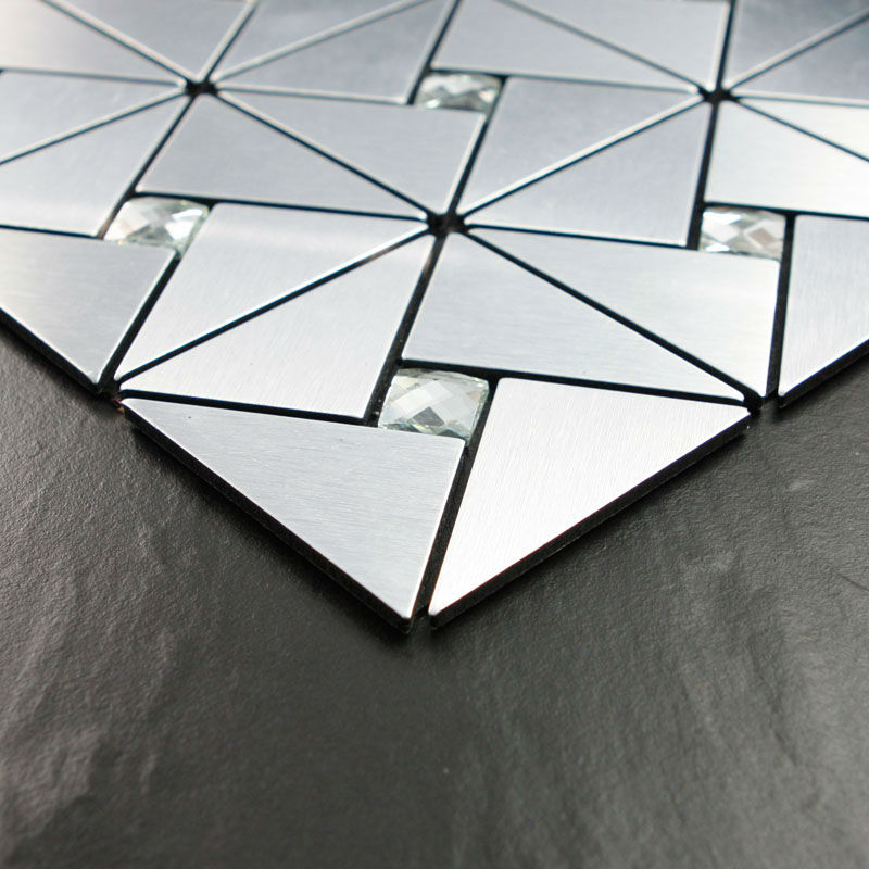 Captivating Kitchen Backsplash Tiles Metallic Mosaic Aluminum Plate Diamond Crystal  Glass Tile Design Art Discount Bathroom Wall Stickers On Aliexpress.com    Alibaba ...