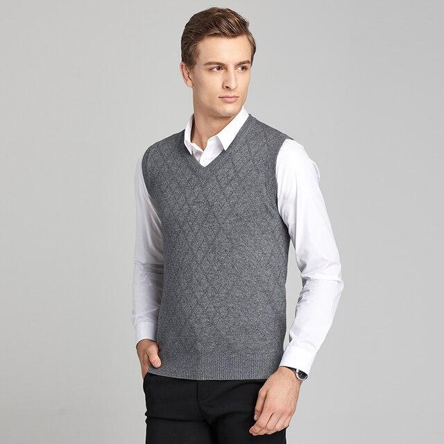 Aliexpresscom Buy 2017 Wool Sweater Vest Mens Cashmere Pullover