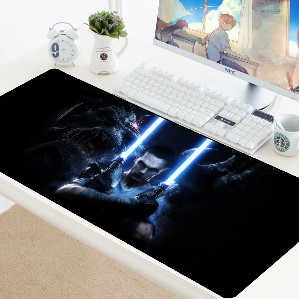 Computer Gaming Desk Us 8 39 27 Off Aliexpress Buy Star Wars King Gaming Mouse Pad Xl Keyboard Computer Gamer Desk Pc Laptop Computer Home Office Speed Mice Play