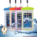 4.5-6'' PVC Waterproof bag Underwater Pouch Dirt Snow Proof Durable Case Cover For iphone 6 6s plus Samsung note 4 3 2 S6 S5 S4