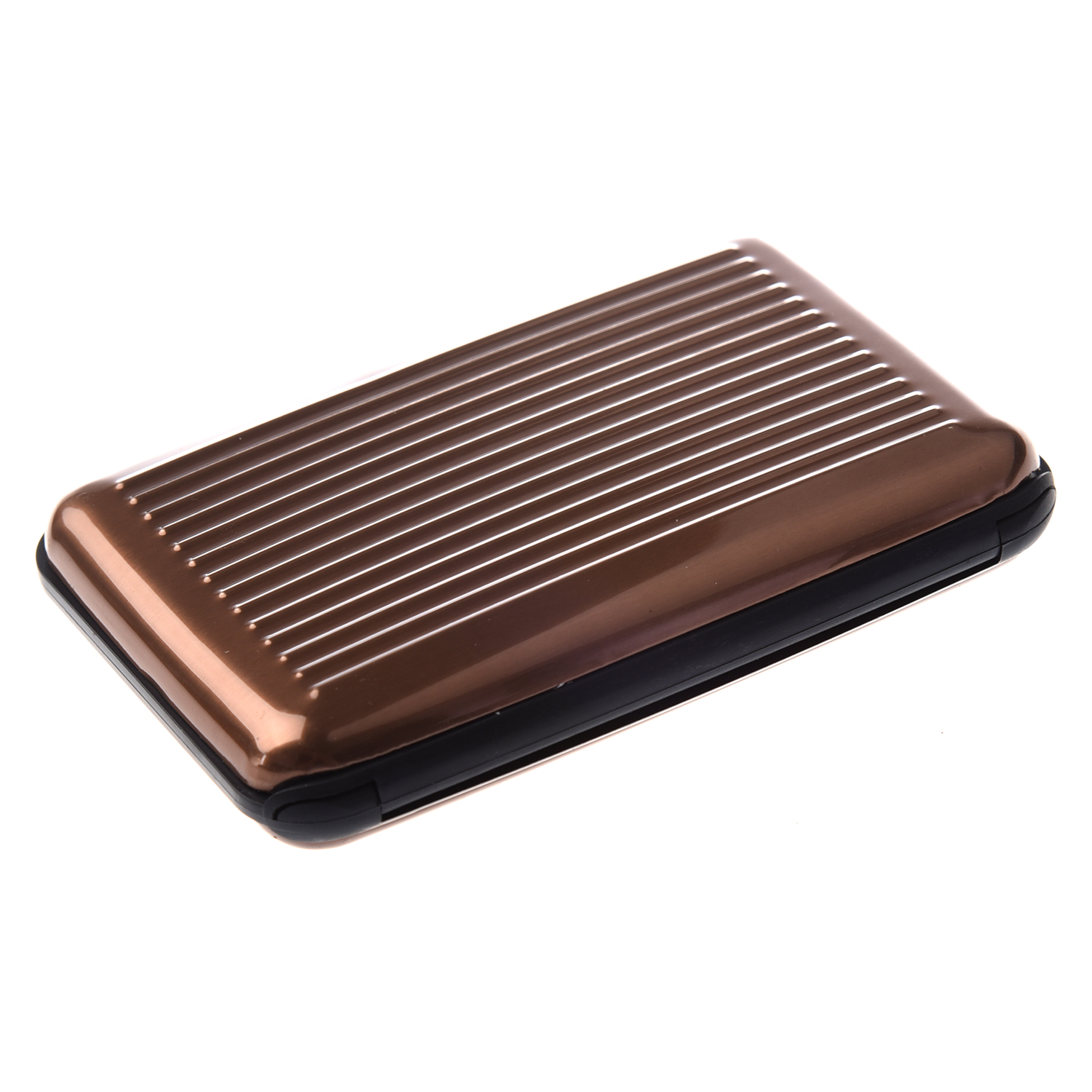 Snny Color Metal Aluminum Business Id Credit Card Case Wallet Holder Box Purse Pocket Brown Stripes In Card Id Holders From Luggage Bags On