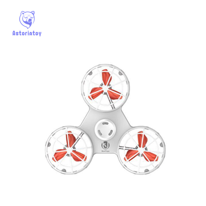 Fidget flying hand spinner chargeable fly back finger dice anti stress release toys for children