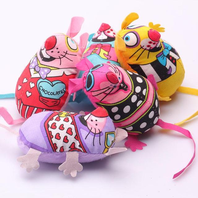 Pet Product Fat Cat Toy Fat Canvas Colorful Mouse With Cat mint Catnip Funny Brinquedos Para Gato Mouse Toys For Cats