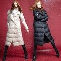 LYNETTE'S CHINOISERIE 2016 ganso branco para baixo casaco de médio-longo fêmea magro espessamento roupas ganso luxo