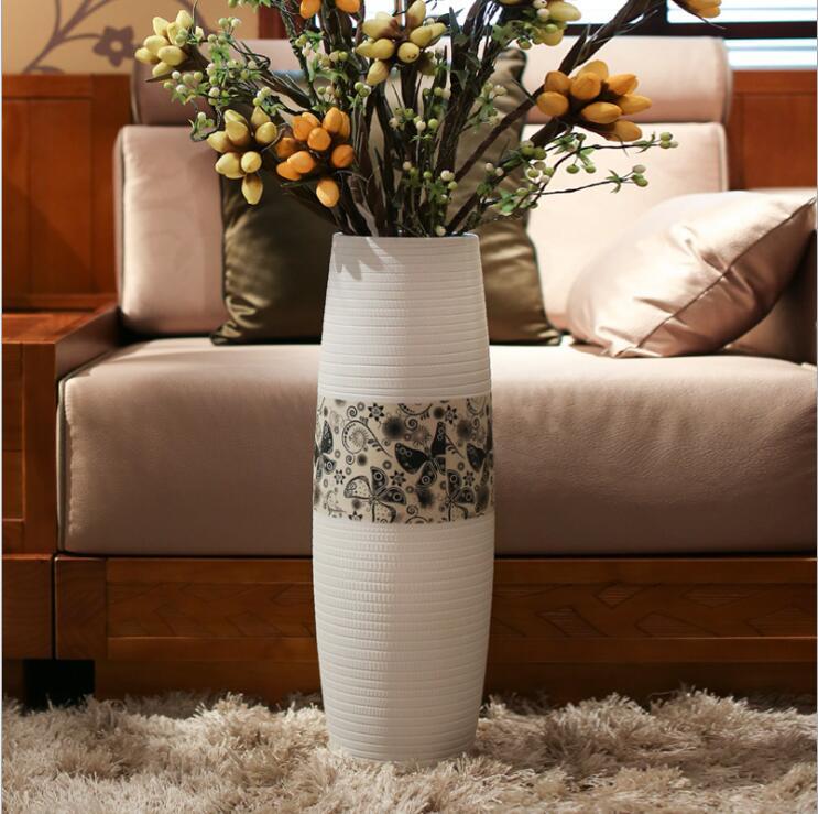 Living Room Flower Arrangement Ceramic Vase, Floor